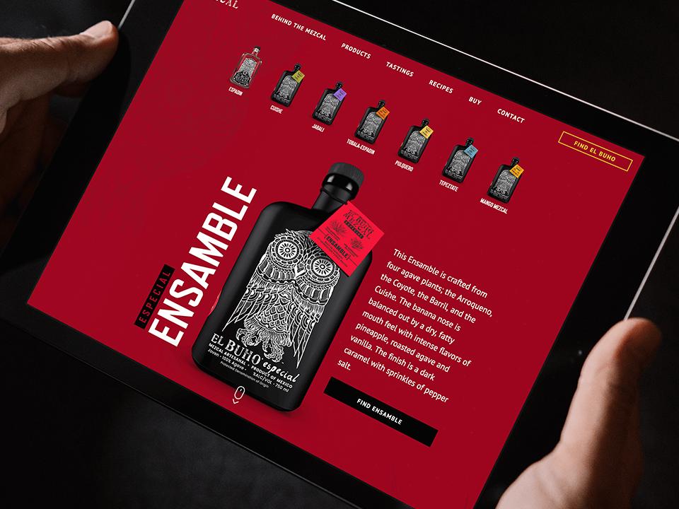 Alcohol Brand Website Design On Tablet