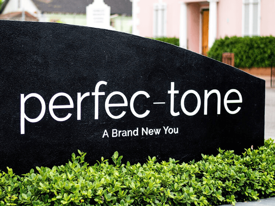Skincare Marketing Outdoor Sign In Black Stone