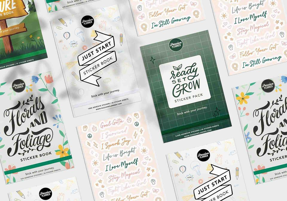 BigCommerce Agency Presentation of Passion Planner Website Graphics & Stickers