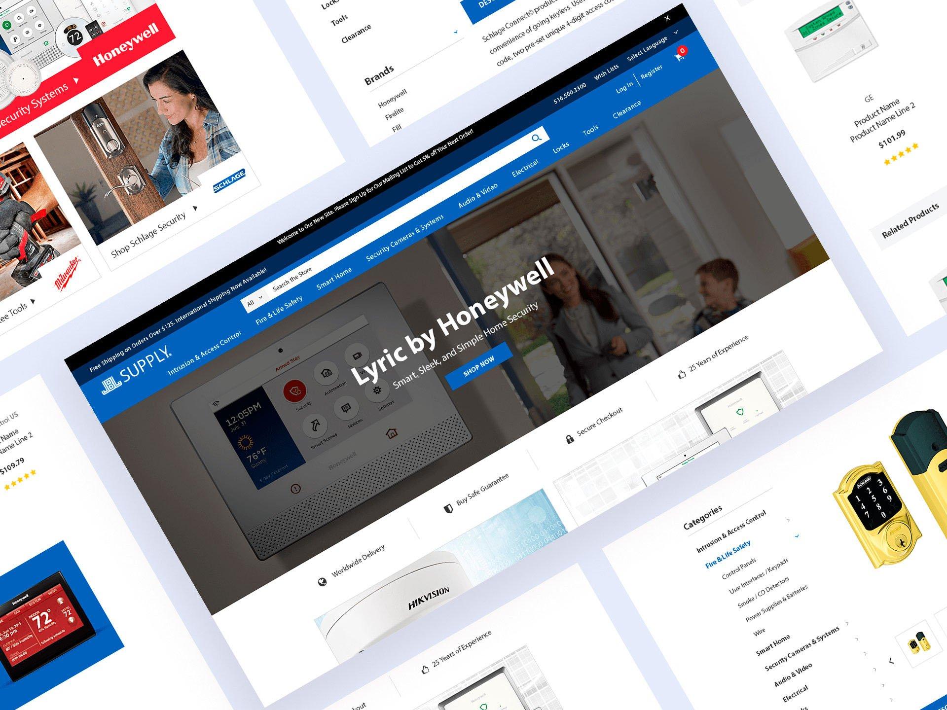 BigCommerce Developer Website Mockup For JBJ Supply