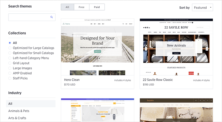 BigCommerce Web Design Themestore Screenshot