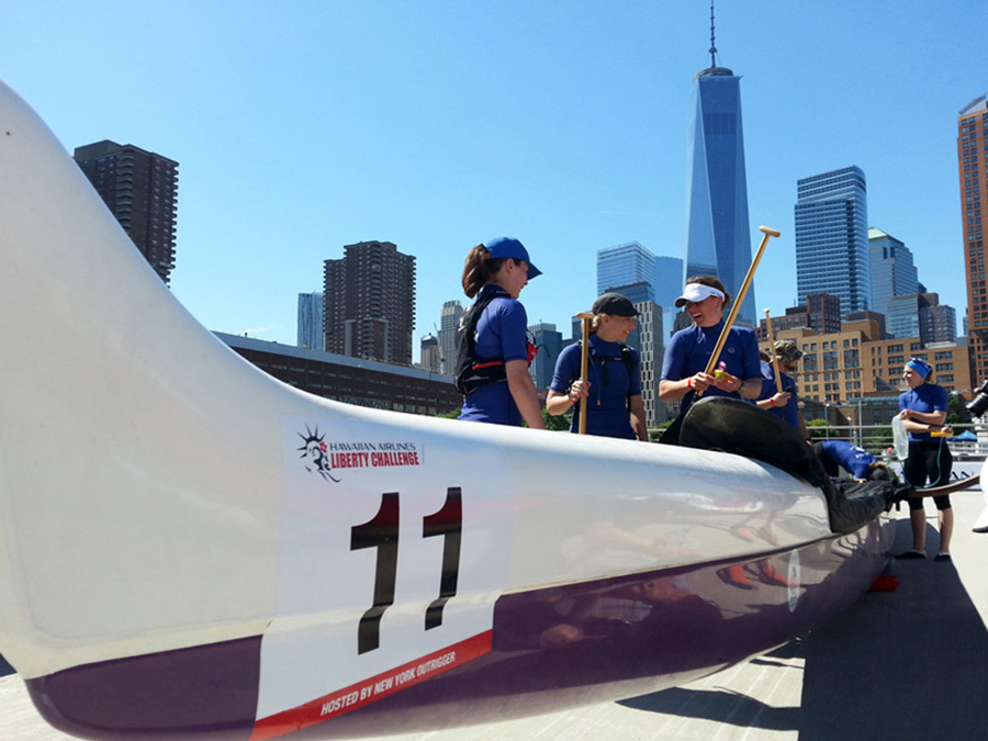Rowing Team Preparing For A Promotional Race In NYC
