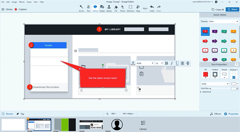 Capture Software Snagit Editor Screenshot