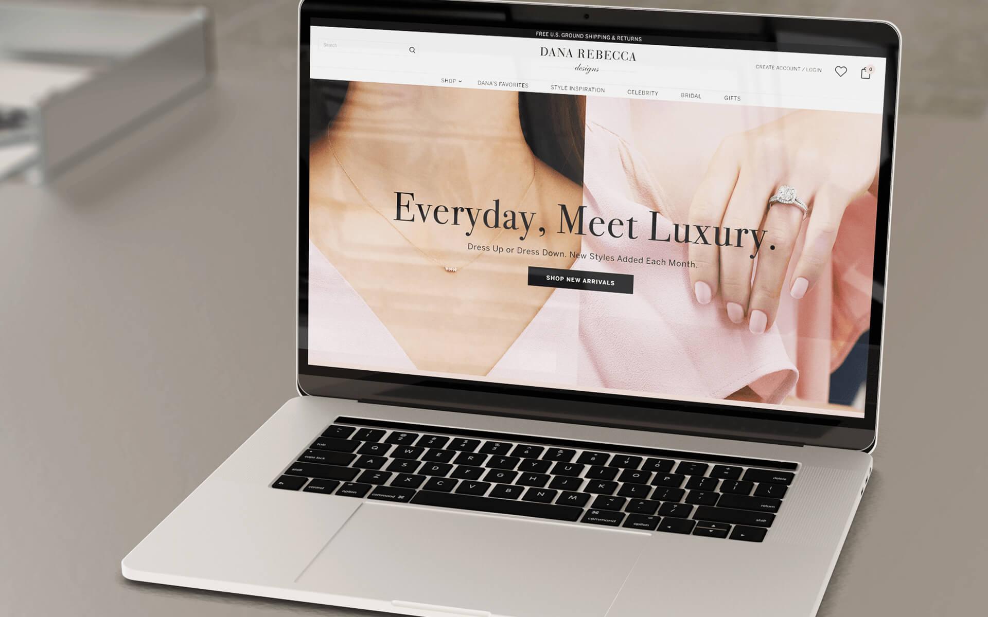 Jewelry Marketing Company Desktop Website Mockup