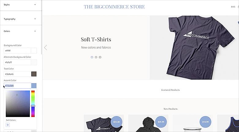 BigCommerce Web Design WYSIWYG Editor Screenshot