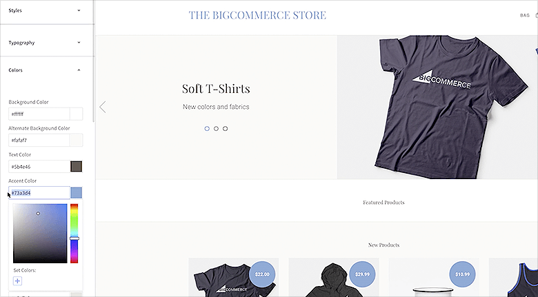 BigCommerce Web Design WYSIWYG Editor Screenshot