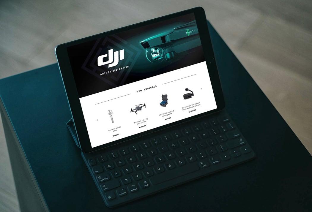 Website Setup Mockup On Tablet Screen On Black Table
