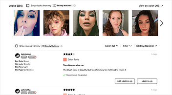 eCommerce Business Product Review Page With Photographs And Customer Feedback