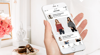 Phone With Augmented Reality App For eCommerce Echo Look  And Pretty Interior In Background