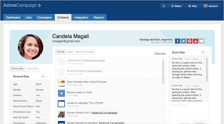 Email Marketing Platforms Blog ActiveCampaign Screenshot