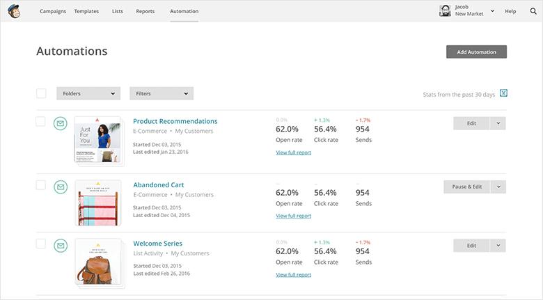 Email Marketing Platforms Blog MailChimp Screenshot