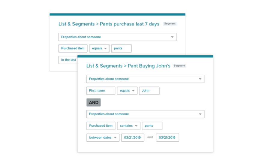 Marketing Email Segmentation Examples Mockup