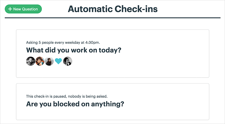 Automatic Check In Feature Depiction
