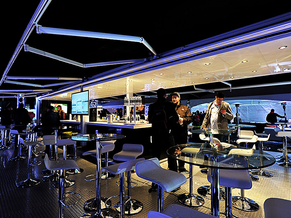 Experiential Marketing Company Custom Designed Shipping Container Bar Interior