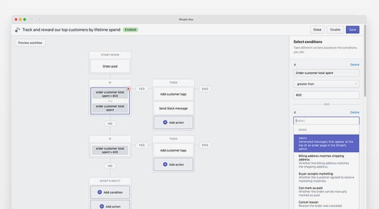 Shopify Flow Platform Screen Example
