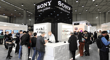 Sony Stand At An Experiential Marketing Event For Brands