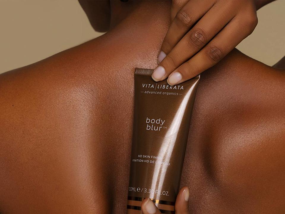 Fashion Photo of Dark Skin Tint Lotion Behind Back on Beauty Marketing Agency Case Study