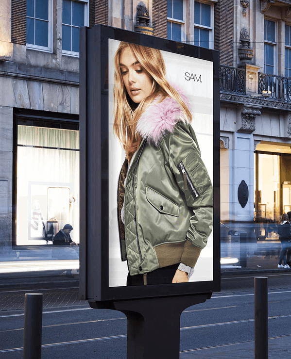 The Girl on the Billboard of Marketing Company