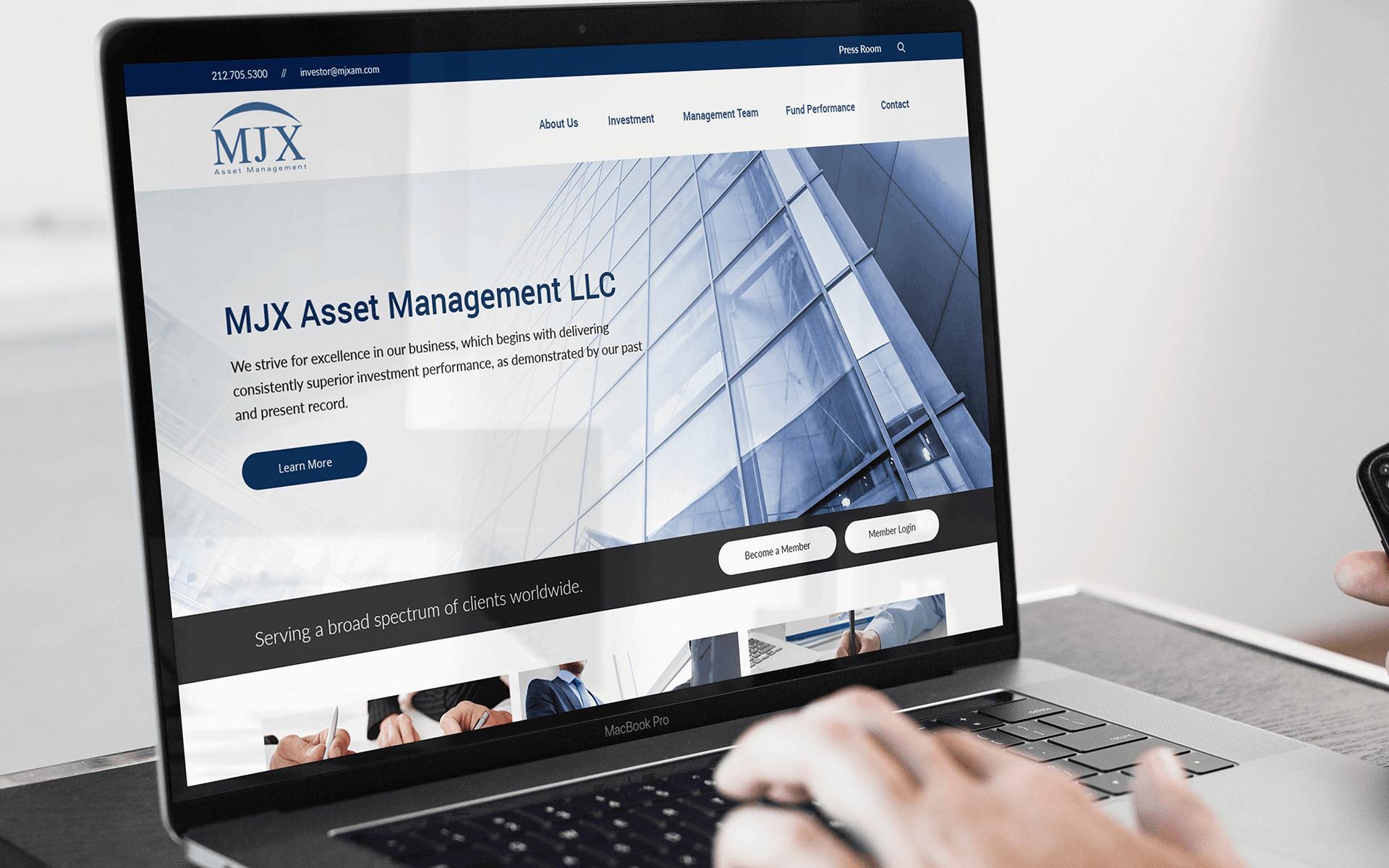 Full-Service Web Development Company for Asset Management Company on Desktop