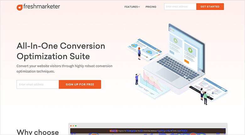 Heatmap Tools Freshmarketer Screenshot