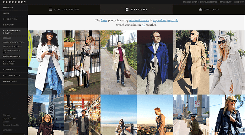 User Generated Content Burberry