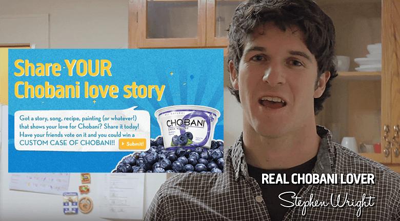 User Generated Content Blog Chobani Yogurt Ad