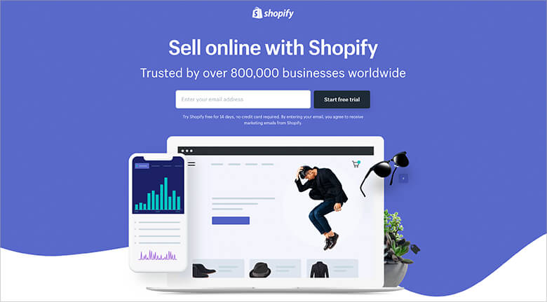 Shopify Landing Page Design Example