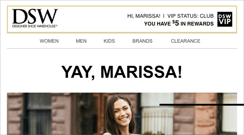 Increase Conversions Personalization Screenshot of DSW Shoes Website