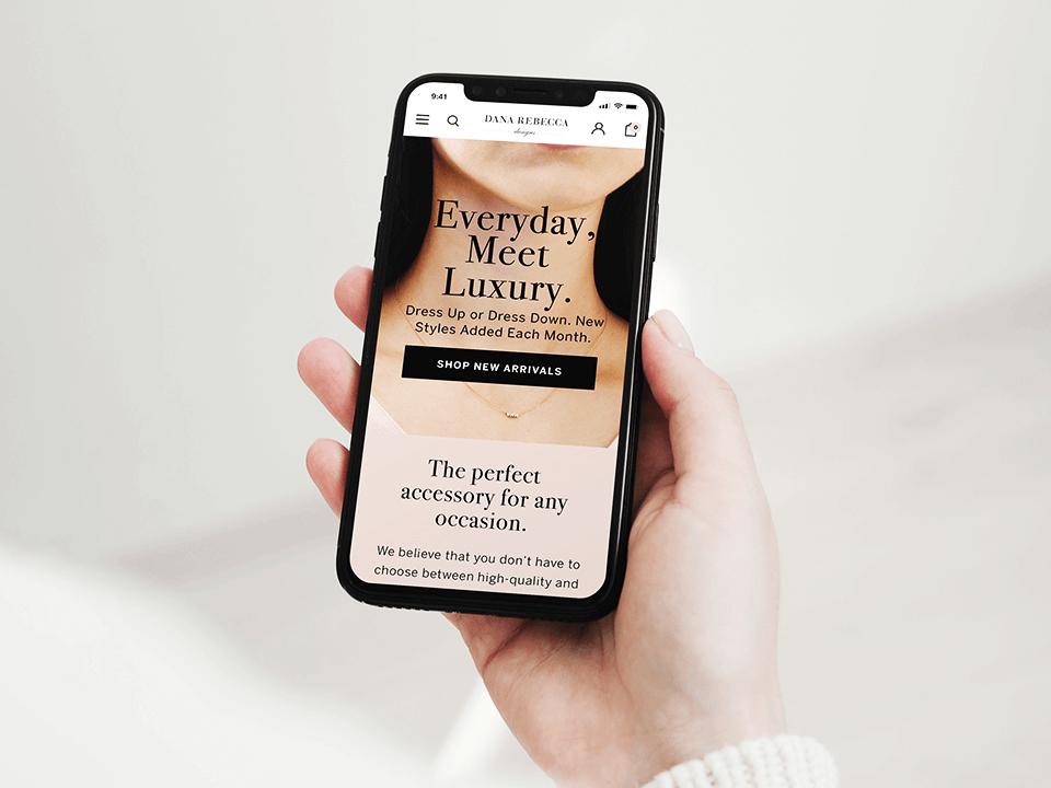 Jewelry Marketing Company Mobile Website Design