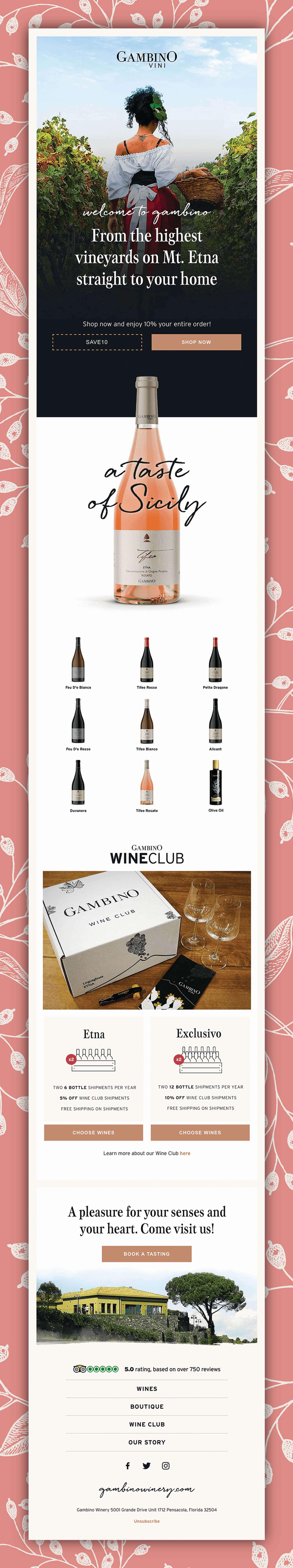 Klaviyo Email Marketing Design Featuring Alcohol & Spirits Brand Marketing