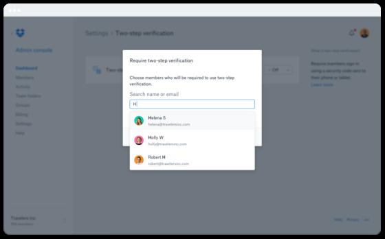 Marketing Company Dropbox Trusted Screenshot