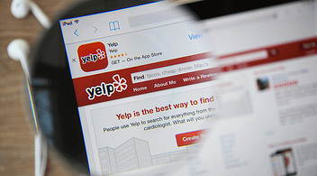 App Store Search Window On Ipad With Yelp App Famous For Geomarketing