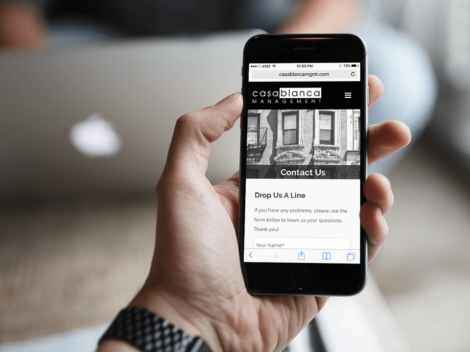 Brand Identity Consulting Firm Mobile Website Mockup Of Real Estate Client