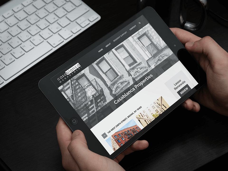 Brand Identity Consulting Firm Tablet Website Mockup Of Real Estate Client