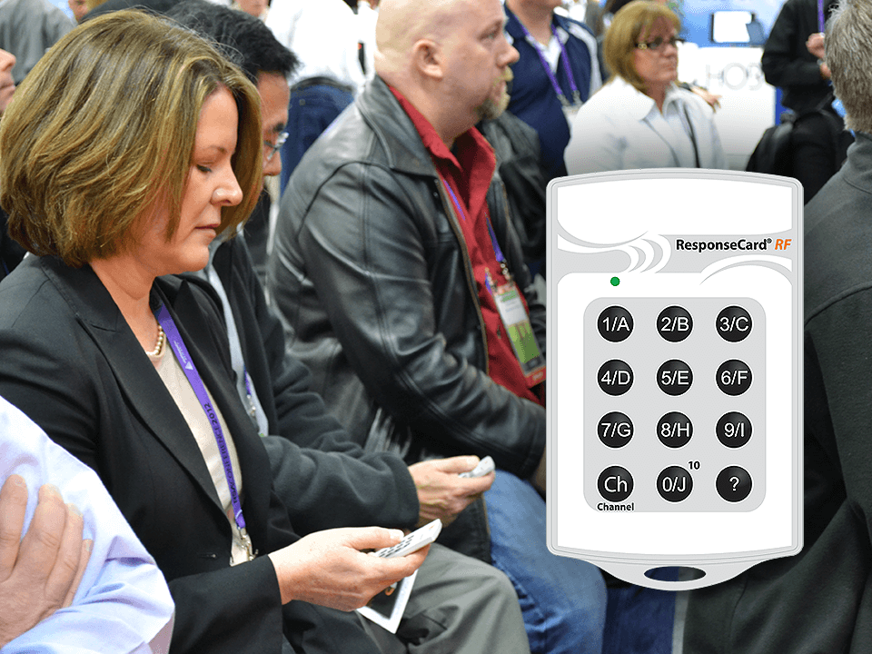People Holding A Remote Keypad Control for Cyber-Security Marketing Event