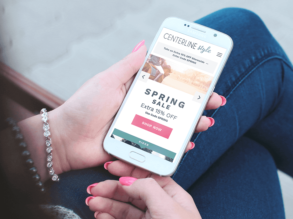 Equestrian Marketing Company Mobile Website On BigCommerce