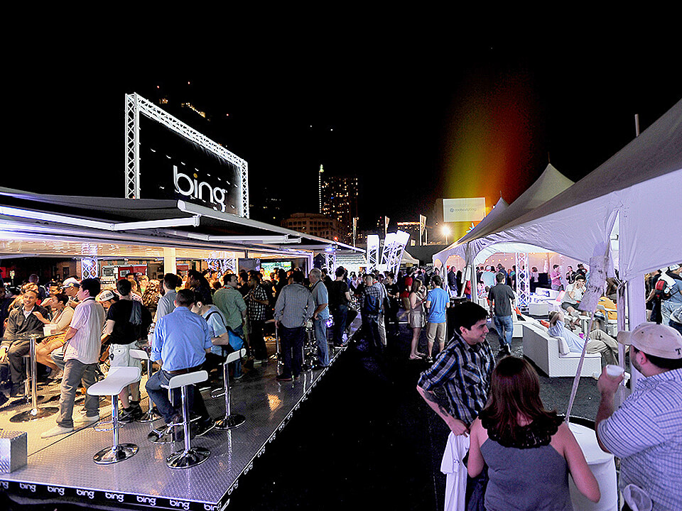 Live Marketing Event Activation In Texas With Bar And Couches
