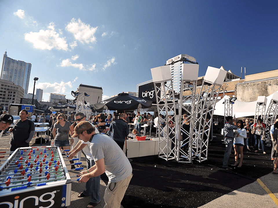 Outdoor Footprint With Games For Kids As Part Of Experiential Marketing Event