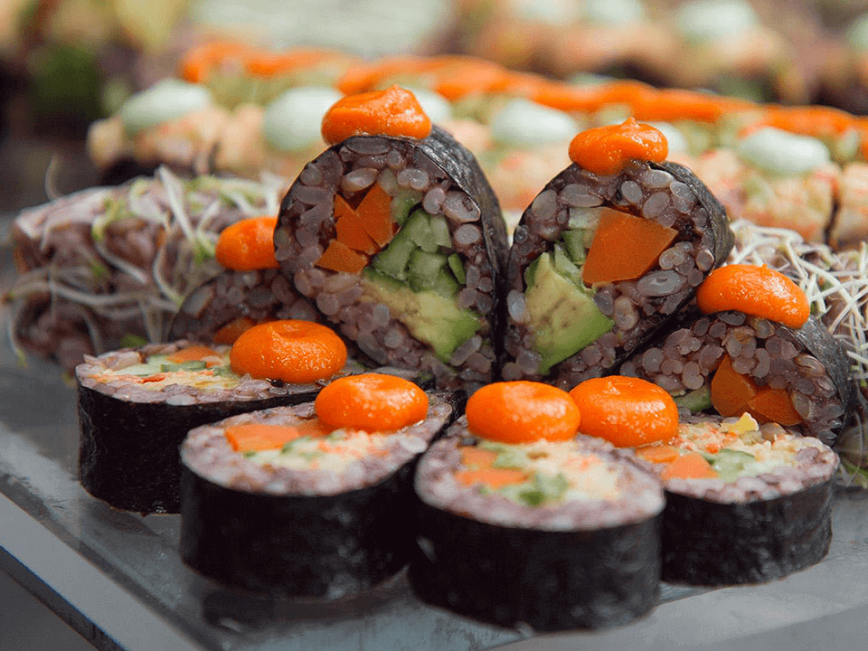 Food and Beverage Marketing Photograph of Sushi On Table