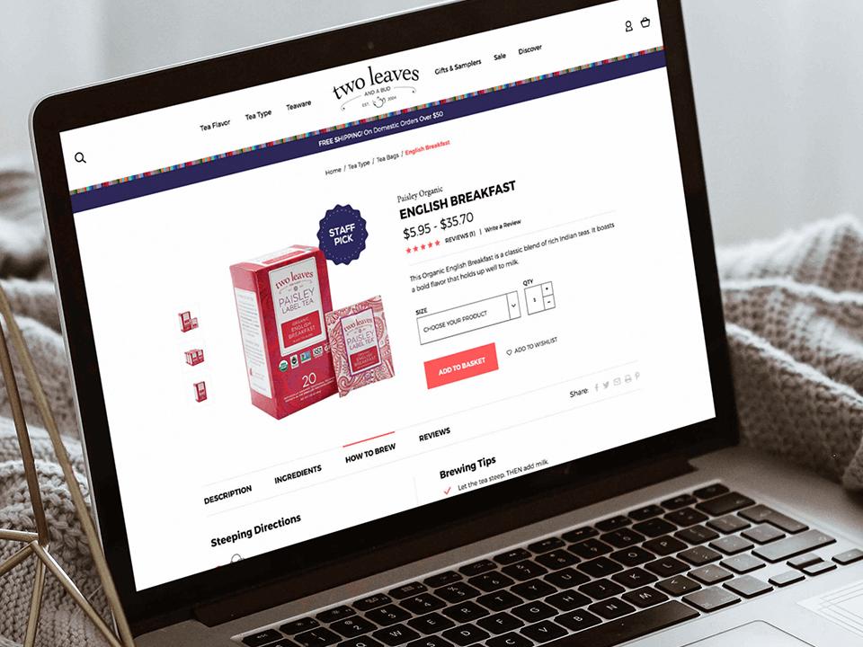 Full-Service CPG Marketing Agency Desktop View for Beverage Brand