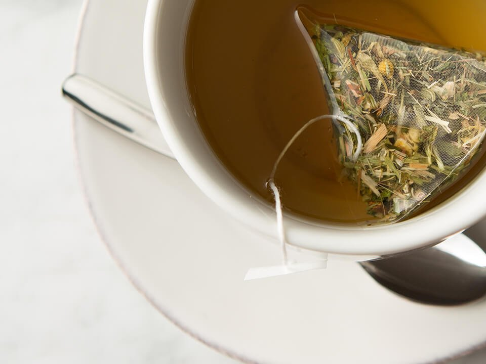 Closeup Of Tea Bag In A Cup As Part Of A Full-Service CPG Marketing Agency Beverage Brand Promotion