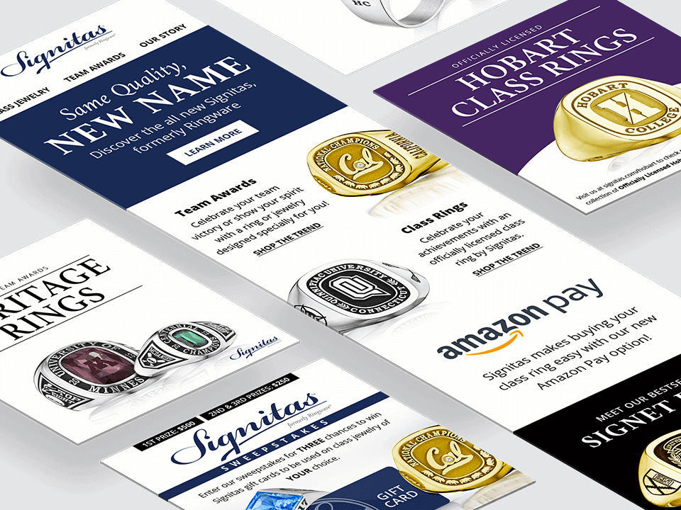 Jewelry Marketing Agency Advertising for Class Rings Branding