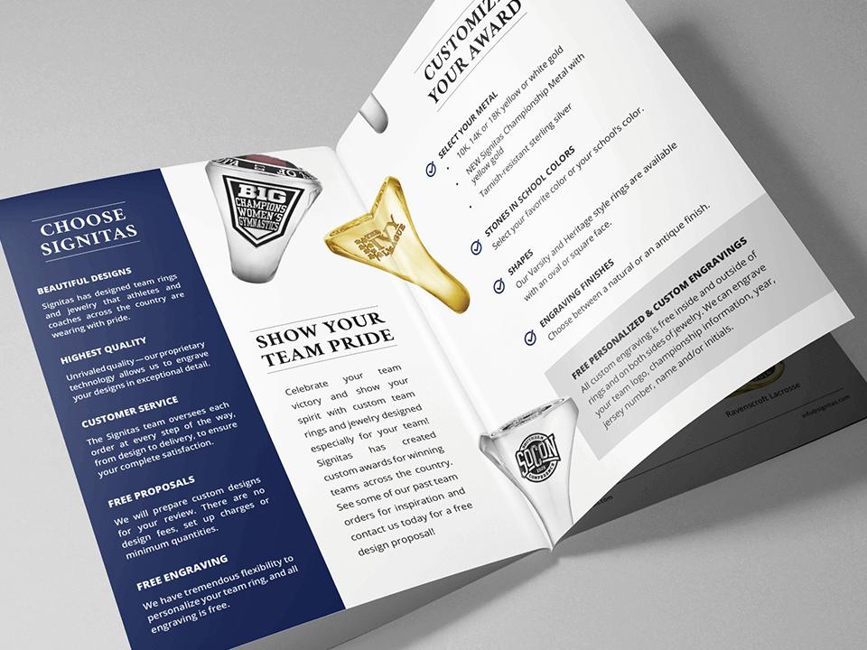 Jewelry Marketing Agency Brochure for Class Rings Branding