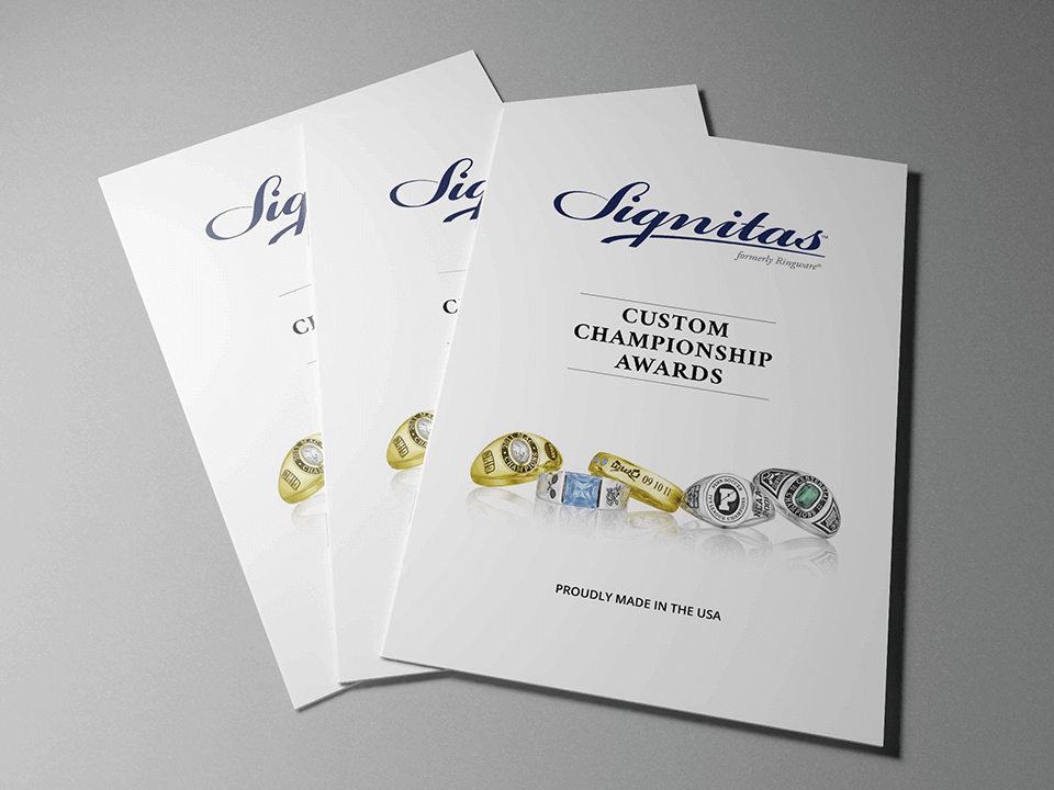 Jewelry Marketing Agency Case Study Graphic Showing Branding Design For Print Brochure