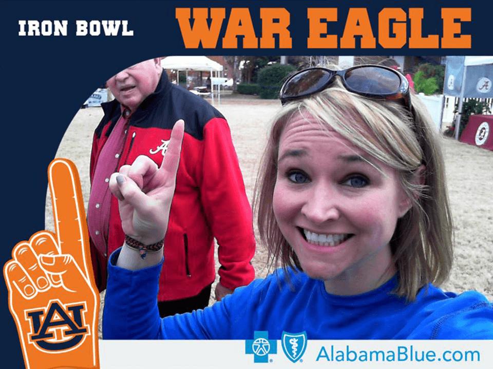 Medical Brand Marketing Company Showing Auburn War Eagle Fan Girl