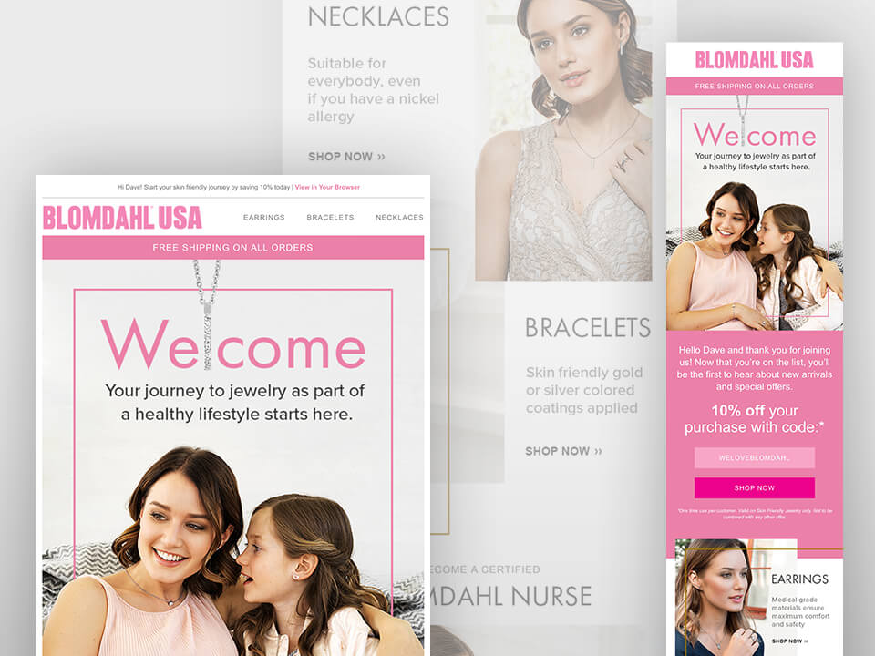 Medical Jewelry Marketing Company Email Mockup