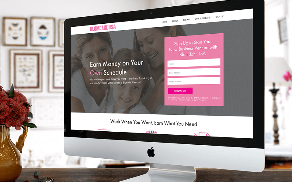 Medical Jewelry Marketing Company Website Mockup