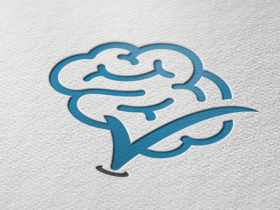 Medical Services Marketing Company Logo On Paper for Neurology Center