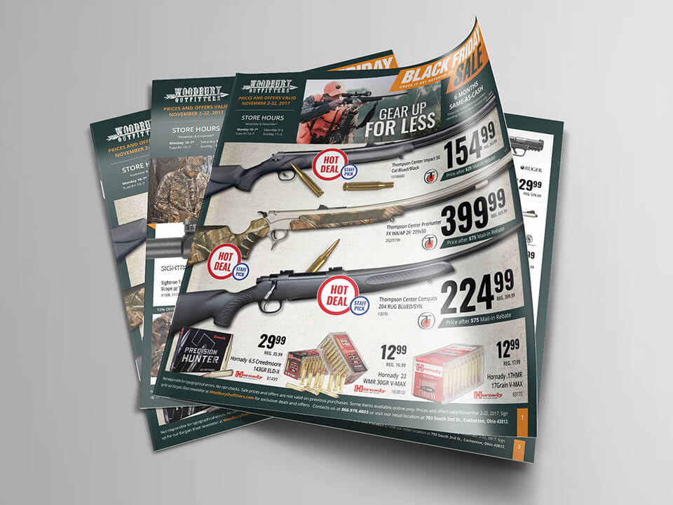 Print Catalog Cover for BigCommerce Hunting Supplies and Outdoor Store