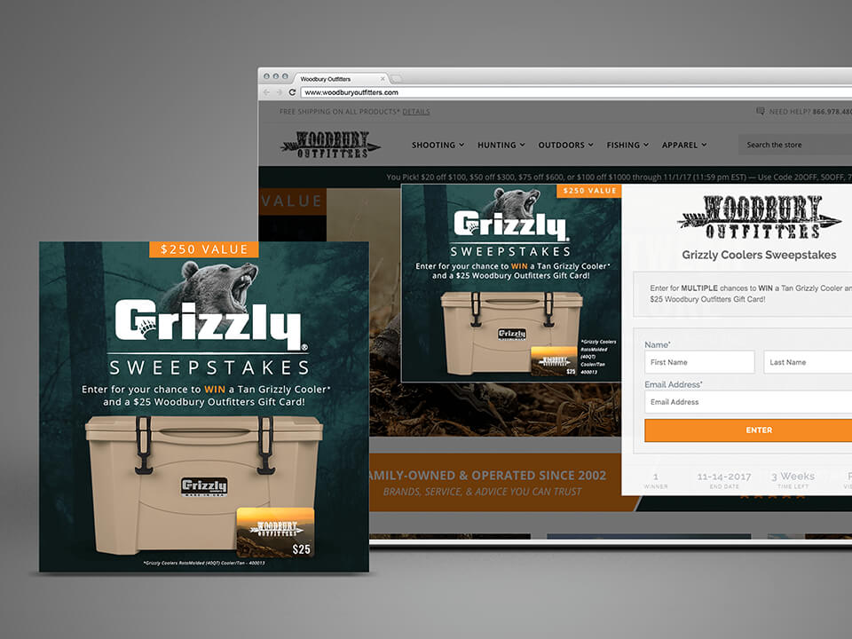 Outdoor Brand Marketing Company Web-Advertising for BigCommerce Store